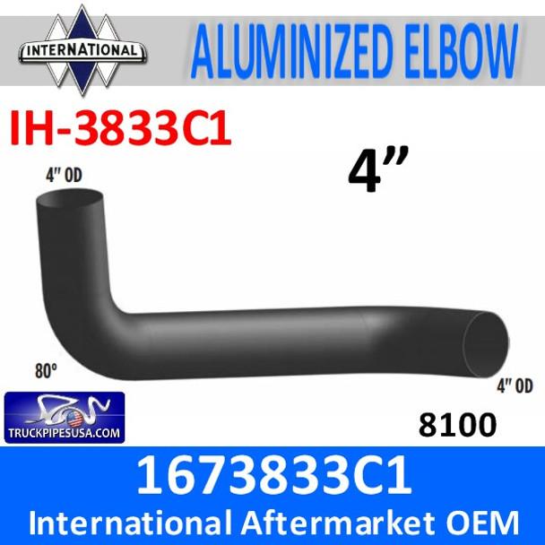 1673833C1 International 8100 Day cab Exhaust Elbow IH-3833C1