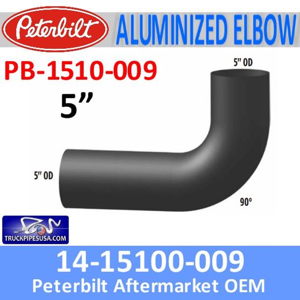 14-1510-009 Peterbilt Exhaust 90 Degree Elbow PB-1510-009