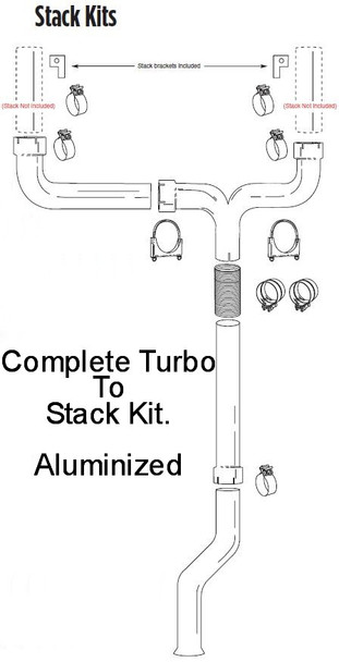 """2003-2005 Ford 6.0L Powerstroke 6"""" Dual Stack Kit"""