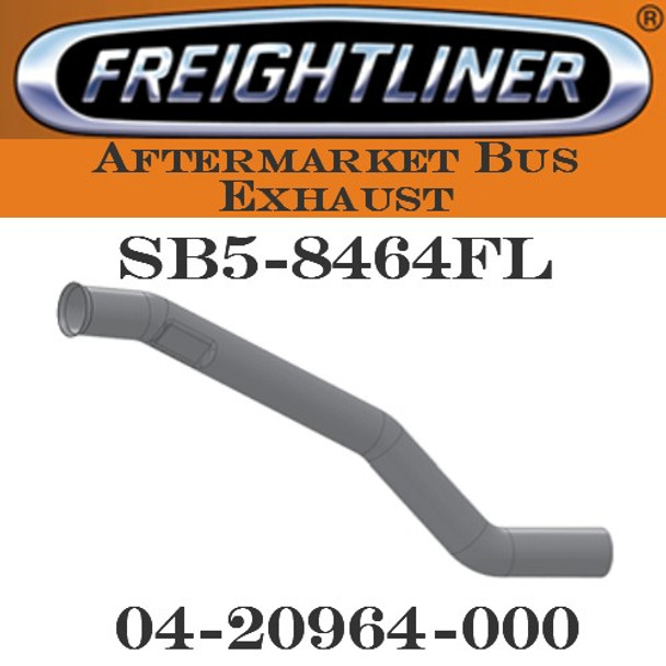 """04-20964-000  4"""" Freightliner Bus Exhaust 3 Bend OD/FLARE FLAT ALZ"""