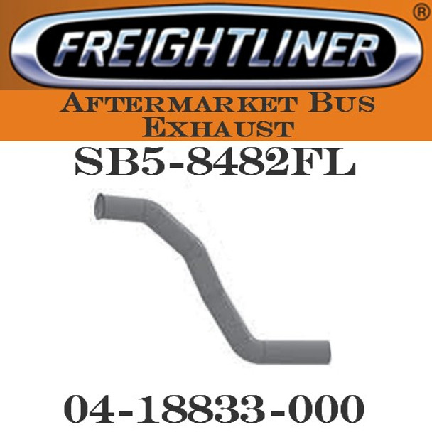 """04-18833-000  4"""" Freightliner Bus Exhaust 4 Bend FLARE, OD-OD"""