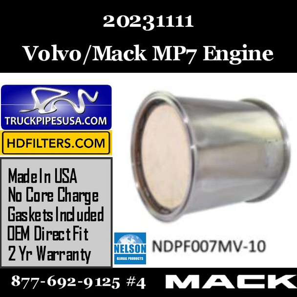 20231111 Volvo/Mack DPF for MP7 Engine