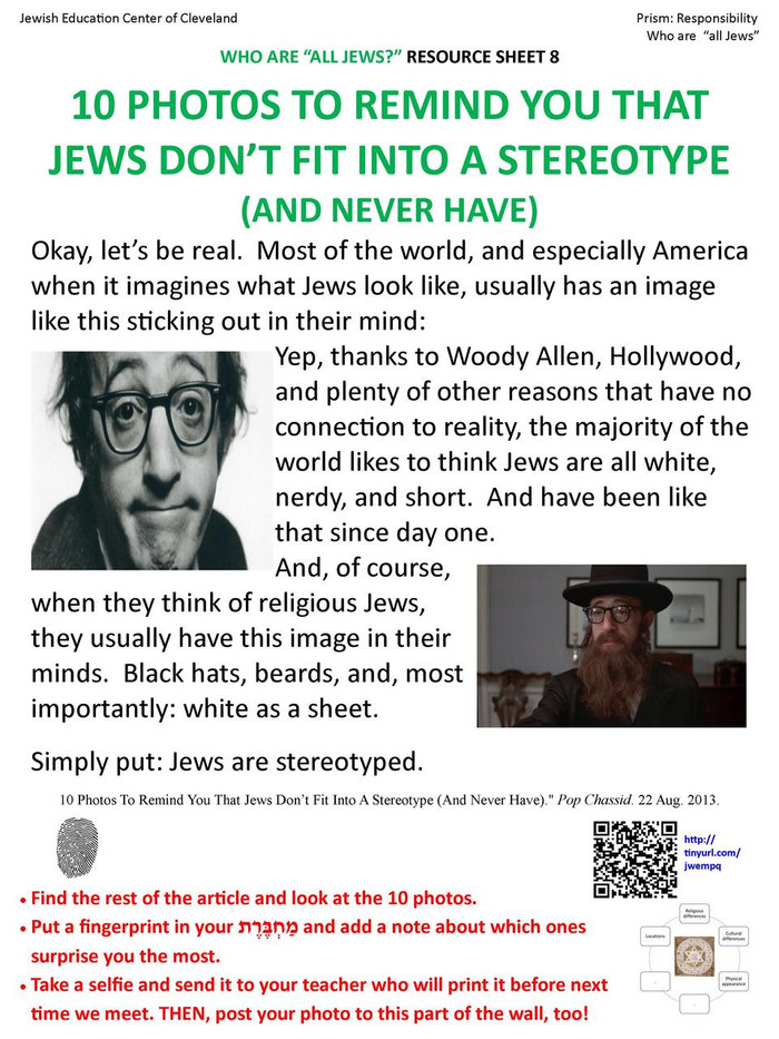 The Prism Project (Jewish Responsibility) Poster Set