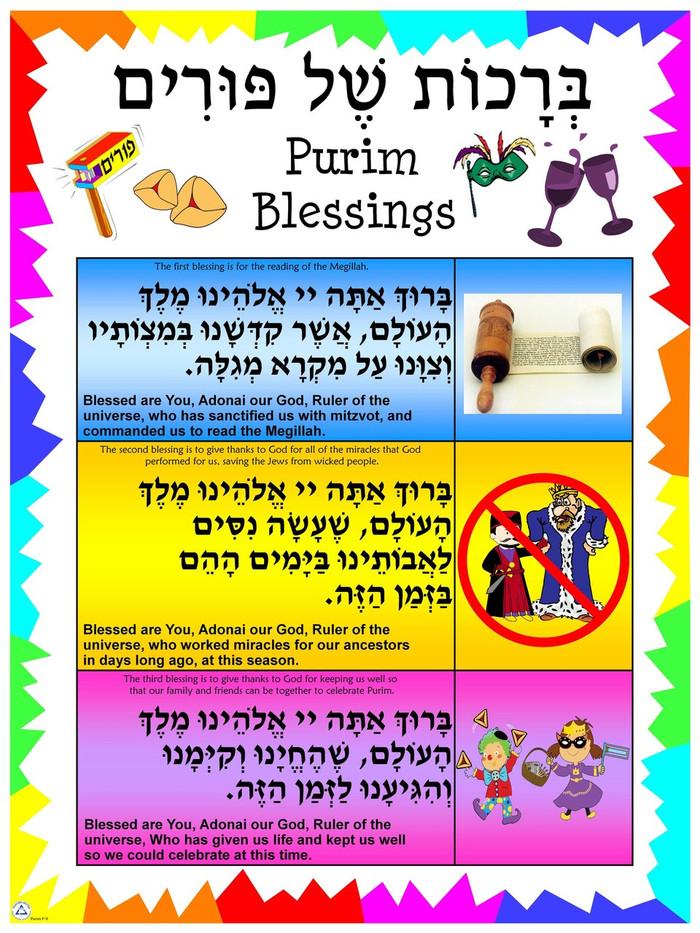 Purim Brachot Poster