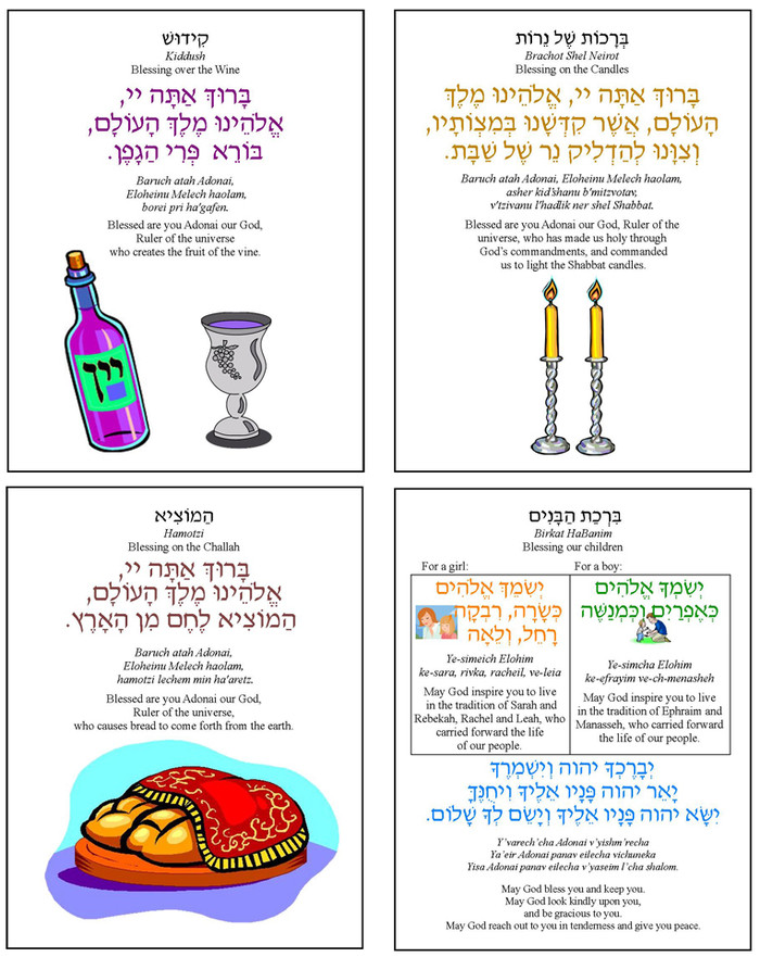 Shabbat Blessings Cards (A Downloadable Item)