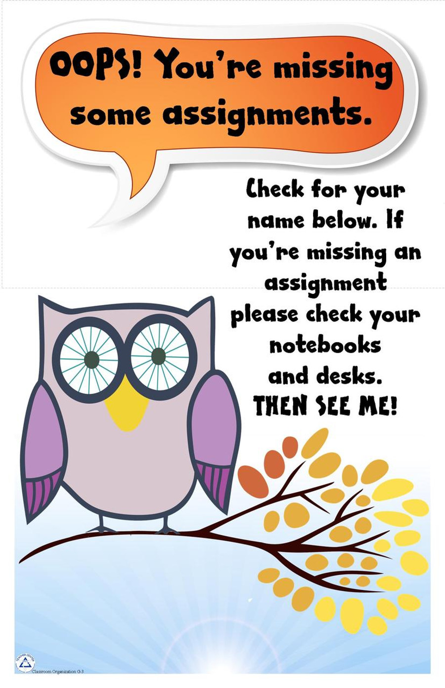 Owl Assignment Reminder