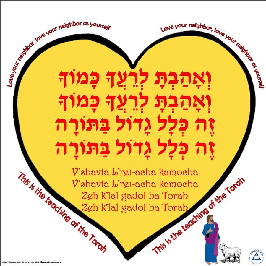 V'ahavta L'reiacha Kamocha Poster