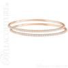(NEW) BELLA COUTURE STACKABLE FINE PAVE' DIAMOND 14K ROSE GOLD BRACELET (3 CT. TW.)