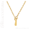 "(NEW) BELLA COUTURE Fine Delicate Diamond Curved Bar 14K Yellow Gold Pendant Necklace (16"" in Length)"