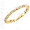 (NEW) BELLA COUTURE LINN Fine Gorgeous Diamond 14K Yellow Gold Stackable Eternity Ring Band (1/3 CT. TW.)