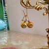 SOLD! - (ANTIQUE) Rare Gorgeous Victorian Floral Flower Natural Turquoise Gemstone 14K Yellow & Delicate Rose Gold Etched Appliqué Dangle Drop Earrings c.1838 One of a Kind Fine Jewelry