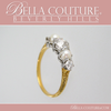 SOLD! - (ANTIQUE) VICTORIAN ANTIQUE .75 CT DIAMOND 14K YELLOW & WHITE GOLD NATURAL PEARL ENGAGEMENT ANNIVERSARY RING BAND - SIZE 6