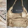 SOLD! - NEW RARE AUTHENTIC PRADA Beige Python Snakeskin Washed Leather Bag Tote Handbag Purse