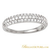 (NEW) Bella Couture Bordeaux Pave 1/2 CT Diamond 18K White Gold Ring Band