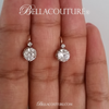 SALE PENDING! - (ANTIQUE) Rare French 3ct Diamond Paste Victorian 18K 18Ct Solid Rose & White Gold Earrings Circa 1700s - 1830s Fine Jewelry