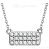 "(NEW) Bella Couture CARA Gorgeous Brilliant 1/6CT Diamond 14k White Gold Fancy Rectangle Pendant Necklace (18"" Inches in Length)"