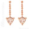 (NEW) BELLA COUTURE Fine Gorgeous Fleur~De~Lis Triliant Cut 2CT Pink Morganite 14K Rose Gold Post Earrings (7MM)
