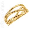 (NEW) BELLA COUTURE VIOLA Fine Elegant Organic Woven 14K Yellow Gold Ring