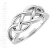(NEW) BELLA COUTURE FOREVER Fine Elegant Knot PLATINUM Ring