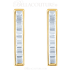 (NEW) BELLA COUTURE Le FEMME Gorgeous Fine Baguette Diamond Vertical Bar 14K Yellow Gold Earrings (1/2 ct. tw.)