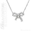 (NEW) BELLA COUTURE LE PETITE BOW Gorgeous Fine (46) Diamond 14K White Gold Earrings (1/5 ct. tw.)