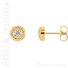 (NEW) BELLA COUTURE SOHO Gorgeous Fine 1/4 CT Diamond 14K Yellow Gold Rope Post Earrings