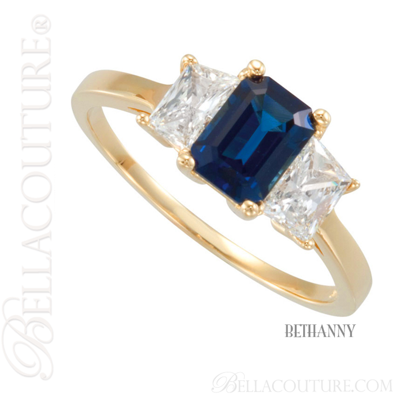 moon blue ring new genuine stone bella gold anniversary sapphire ct three couture engagement white half diamond