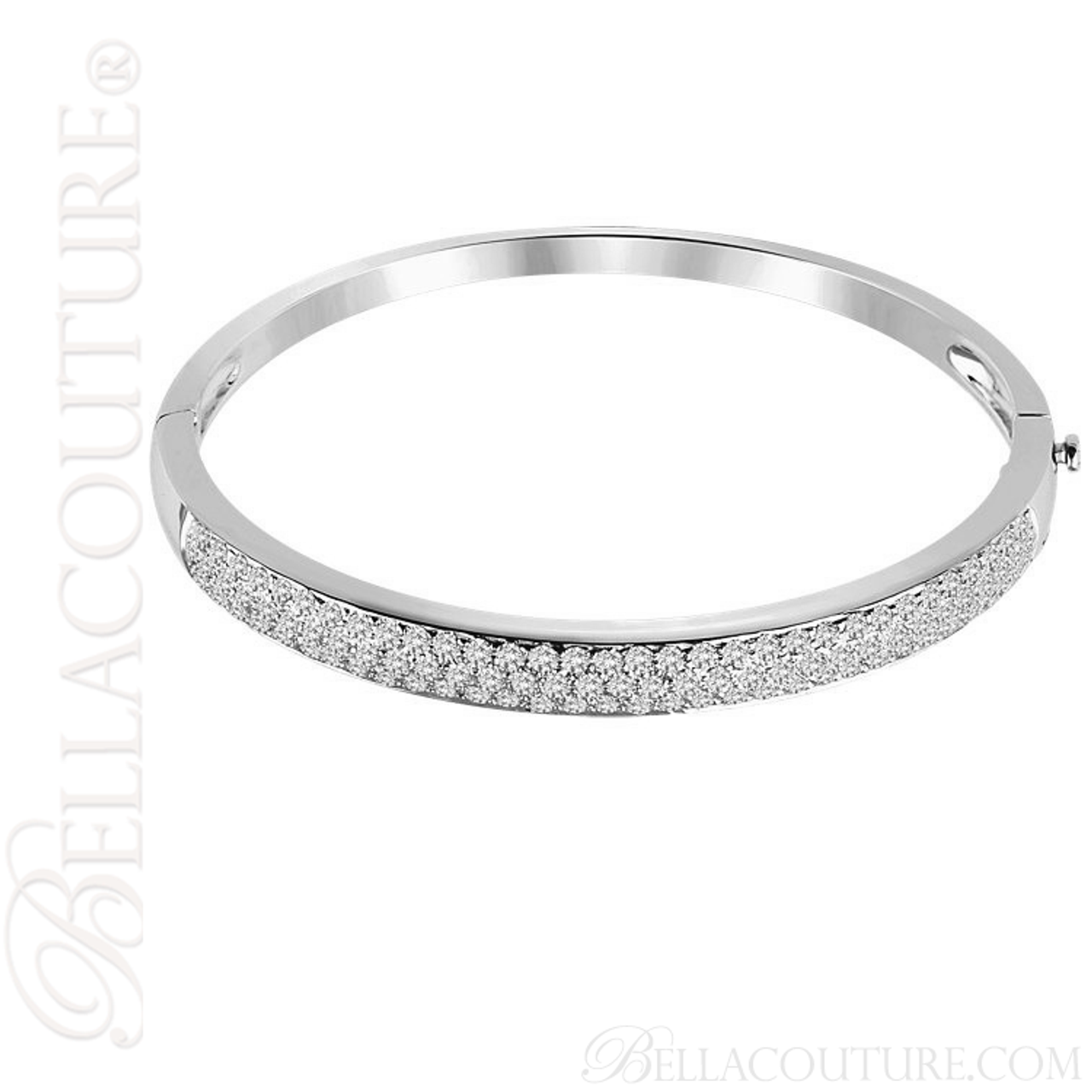 crista hinged bangles bracelet diamond bangle crystal pave bracelets
