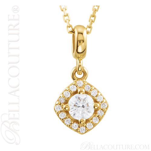 New bella couture fine halo diamond 14k yellow gold pendant new bella couture fine halo diamond 14k yellow gold pendant necklace 18 aloadofball Gallery