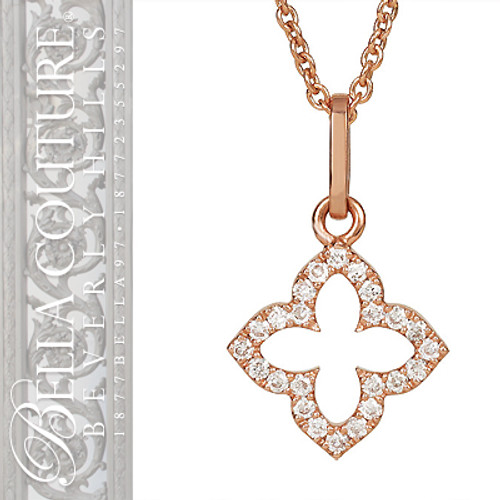 NEW BELLA COUTURE Bordeaux Fine Jewelry Necklace with PETITE Pave