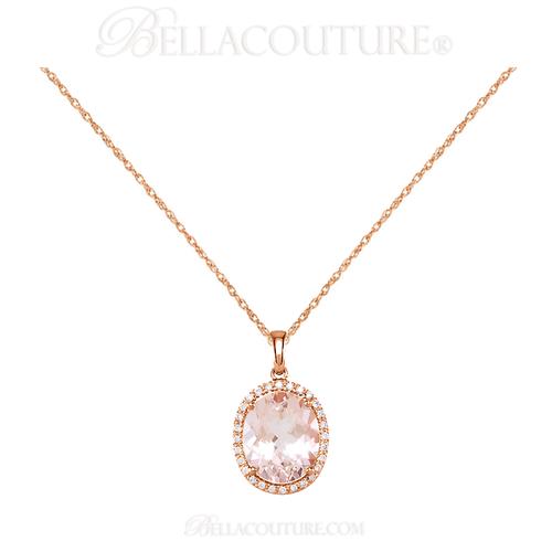 New bella couture fine pink morganite 110 ct diamond 14k rose gold new bella couture fine pink morganite 110 ct diamond 14k rose gold aloadofball Image collections