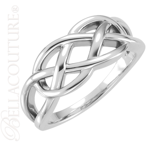 (NEW) BELLA COUTURE FOREVER Fine Elegant Knot Sterling Silver Ring