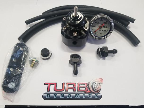 Adjustable Fuel pressure regulator KIT with Fuel gauge for 2017 2018 2019 Yamaha Sidewinder SRX and Thundercat ZR9000