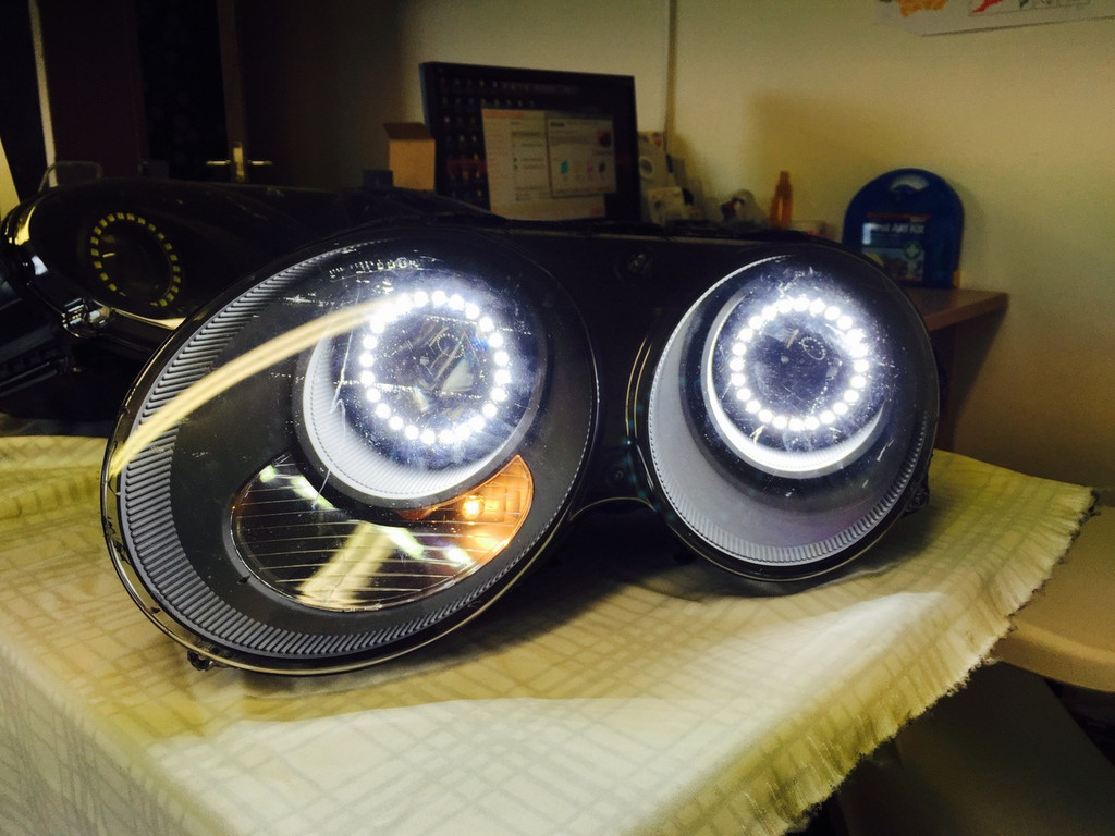 Bentley Continental GT Black Stealth LED Headlights Used