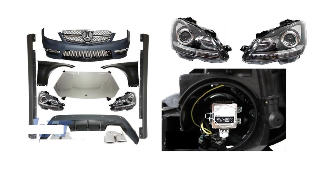 Mercedes W204 07-14 Facelift C63 AMG Complete Conversion Parts