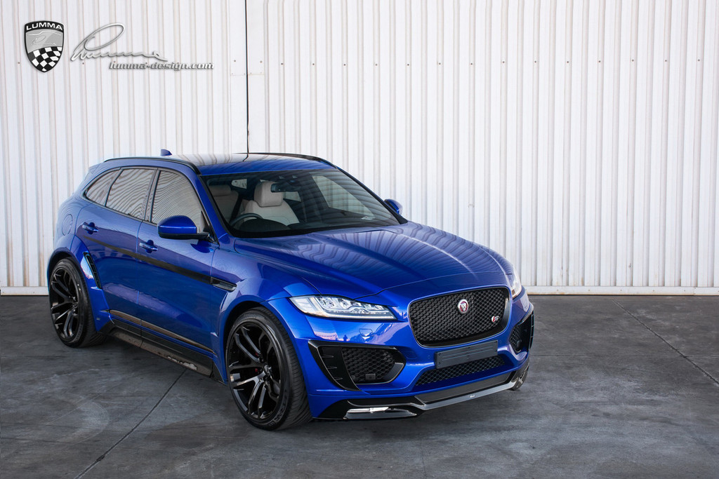 Jaguar F Pace Lumma Design CLR-F Body Kit BLUE