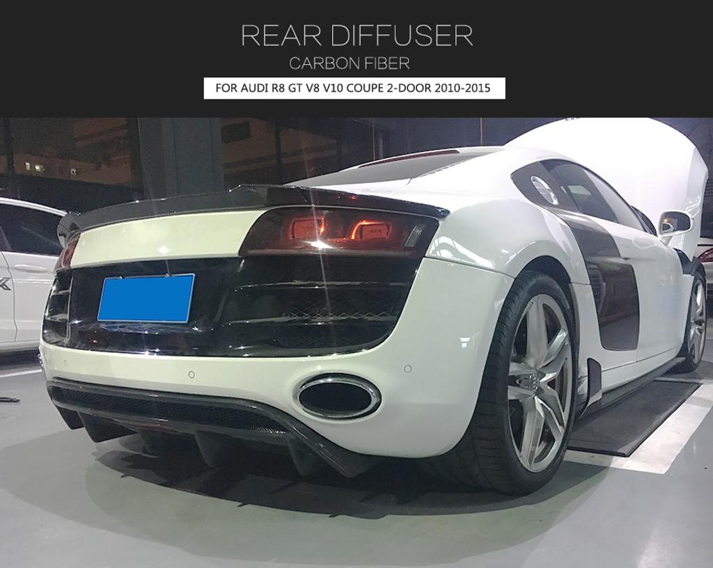 Audi R8 GT V8 V10 Coupe 2010-2015 Carbon Fiber Rear Bumper Diffuser