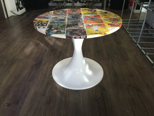DC Marble Style Comic Book Table