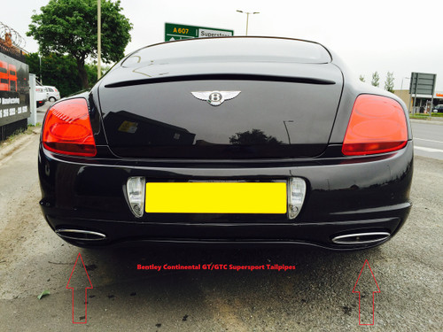 Bentley Continental GT/GTC Super Sports Rear Tailpipe Finishers Genuine