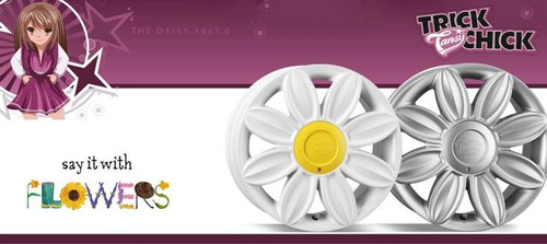 "16"" Tansy Daisy Alloy Wheels-Various Colours available"
