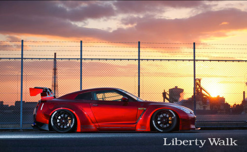 Nissan Skyline R35 GTR Liberty Walk Body Kit Ver.2