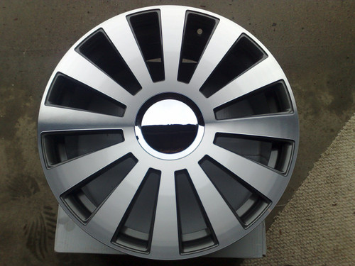 "18"" Alloy Wheels & Tyres A8 Style Gunmetal polish face"