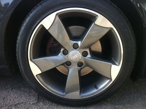 """18"""" Alloy Wheels & Tyres Audi TT RS Style Gunmetal polish face"""