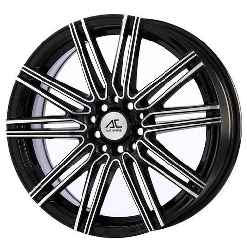 "AC Volt 17"" Alloy Wheels Black Polished"