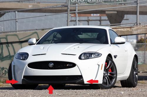 Jaguar XKR-S Front Bumper Carbon Fibre Splitter Genuine NEW