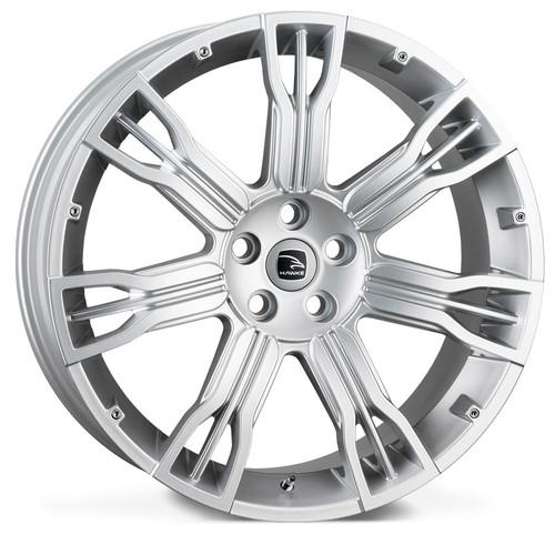 """22"""" Alloy Wheels Hawke Saker II Silver"""