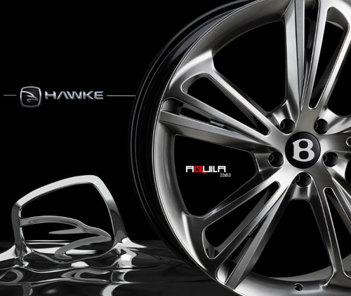 "22"" Alloy Wheels Hawke Aquila Bentley Continental GT Fitment"