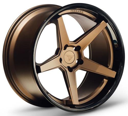 "20"" Ferrada FR3 Matte Bronze Alloy Wheels Mercedes C63 AMG BMW M3 M4 Staggered"