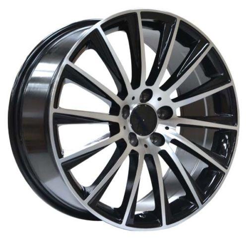 """19"""" Alloy Wheels AMG Turbine Style Black Polished"""