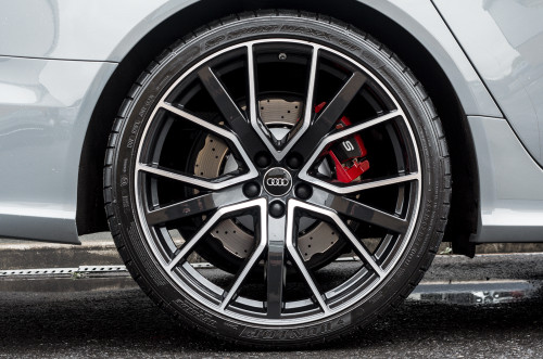"18"" Alloy Wheels Audi RS6 Style Black Polished Face"